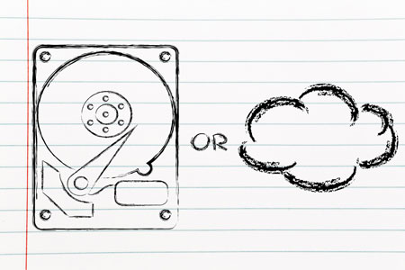 גיבוי מקומי או ענן